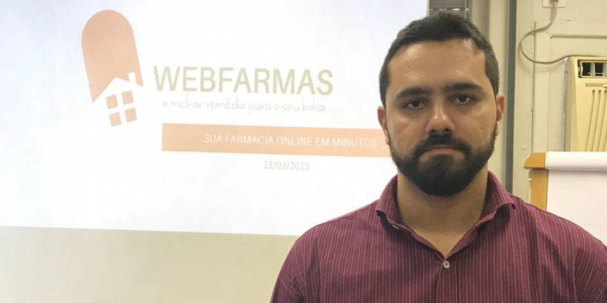Foto: Pedro Antunes, gerente de negócios da Webfarmas, no dia da palestra